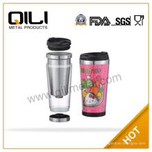 Tasse tasse à café en plastique Eco inox amical