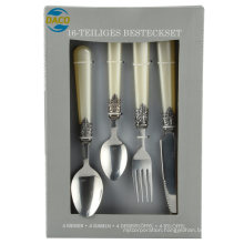 24PCS Cutlery Set (with patterned handle)