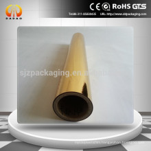 12mic Gold metallized PET thermal lamination film