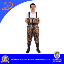 Camo Nylon PVC Chest Fishing Wader