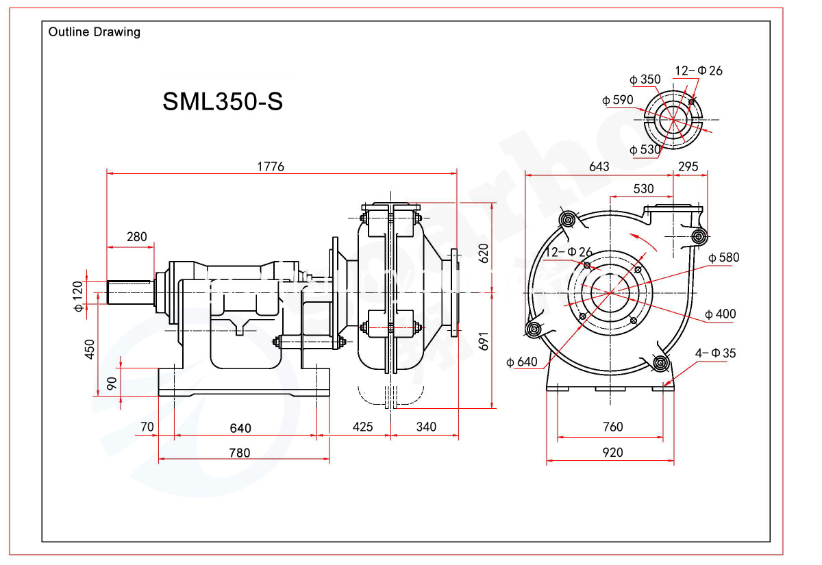 SML350-S outline drawing