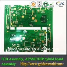 Masque de soudure blanche et 1.6mm épaisseur de panneau à face unique aluminium base led PCB pcb inverter