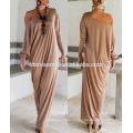 Vestido de verano de la mujer de la promoción del OEM desgaste vestido casual de la mujer de la falda larga