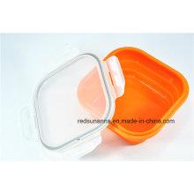 Envase de comida de plástico resistente al calor