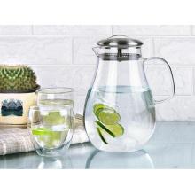 Heat-Resistant Glass Pitcher Tea Coffee Pot Home Juice Beverage Water Jug Bottle