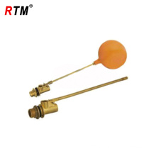 hot sale brass float-ball valve with plastic ball