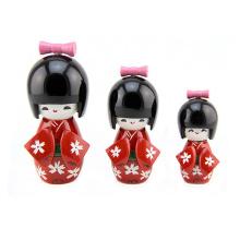 billige hölzerne Handwerk Dekoration Kokeshi Puppe