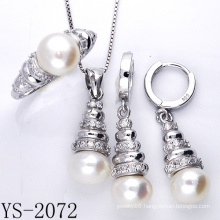 Imitation Jewelry 925 Sterling Silver Pearl Jewelry Sets.
