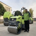 Ride on small road machinery roller diesel engine