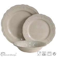 Grey Ceramic Dinner Set with DOT