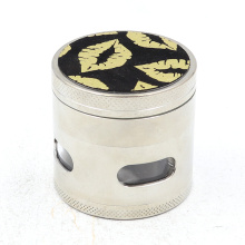 Four-layer flat board electric herb grinder PU for cigarette mill
