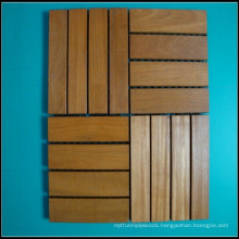 4 Strips Balau Outdoor Decking Tiles