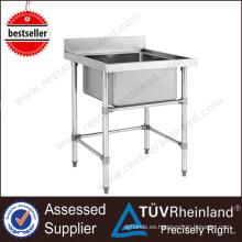 Cheap restaurante individual / doble fregadero de la cocina de acero inoxidable