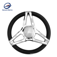 Genuine Marine Bright silver square outboard engine hanging steering wheel special for yacht fishing boat