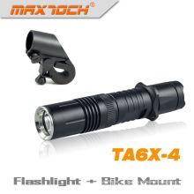 Maxtoch TA6X-4 durável Cree XML T6 bicicleta luz LED tático tocha recarregável