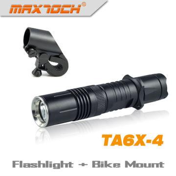 Maxtoch TA6X-4 Durable Cree XML T6 vélo léger tactique LED torche Rechargeable