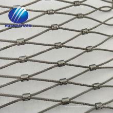 Malla de pajarera de acero inoxidable anudada Malla de zoo X-tend cable