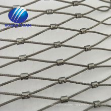 Stainless steel rope knotted aviary netting X-tend cable zoo mesh