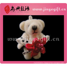 Promotion Cute Red Flower Mini Bear Toys