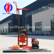 Supply hand pull rope start gasoline engine power portable exploration drill with high pressure fresh water pump small core rig