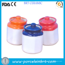 Modern Color Lid Small Ceramic Pickle Jar Chinese