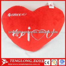 Oreiller en peluche personnalisé en forme de coeur