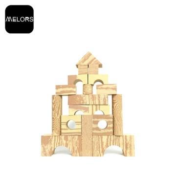 Melors Foam Building Blocks Toys Wood Grain Block