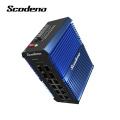 Switch de rede industrial Din-Rail Scodeno IP50 4 SFP 8 portas Gigabit Ethernet switch externo LAN switch