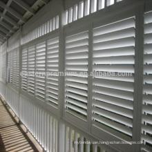 pure white pvc plantation shutter