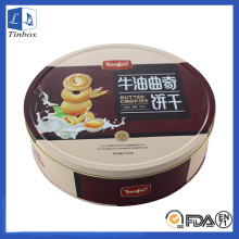 Round Metal Cookie or Cake Tin Box