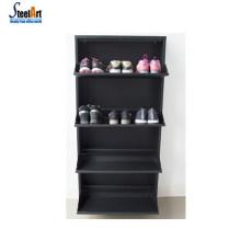 En option couleur acier rotatif étagère à chaussures encombrant rotatif chaussure rack meilleur prix meuble étagère à chaussures