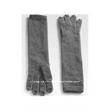100% guantes de punto de cachemira