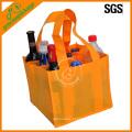 barato saco de garrafa de vinho não tecido laranja eco