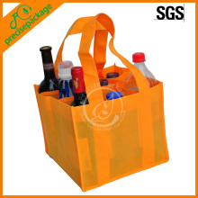 cheap eco orange nonwoven wine bottle bag