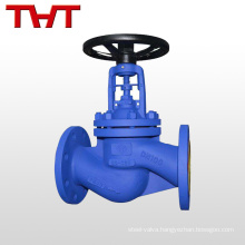 din flange end bellow globe valve