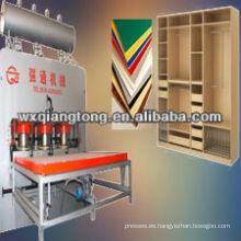1200T-1220 * 2440mm placa de melamina prensa caliente / placa caliente para prensa hidráulica