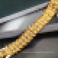 Pulsera grande exagerada de la joyería plateada oro de Fashion18k de los hombres