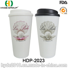 Double Wall Plastic Mug for Hot Coffee (HDP-2023)