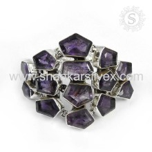Alibaba Sterling Silver Jewelry Amethyst Bracelet Manufacturing 925 Silver Jewelry Gemstone Bracelet