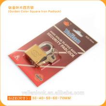 Cerradura de oro de alta seguridad de la llave del color
