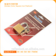 Haute sécurité Golden Color Vane Key Square Iron Padlock