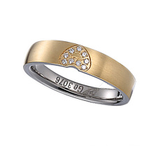 Men′s Ring Set Wedding Diamond Stainless Steel Ring Men