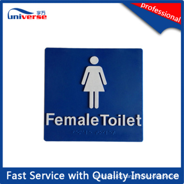 180mm*180mm Female Toilet Braille Tactile Sign