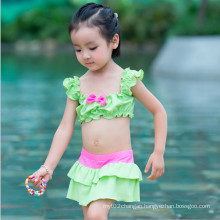 Little Girl′s Printed Ruffled Swimwear