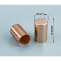 Customize shiny aluminium plastic perfume atomizer cover cap