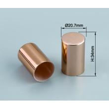 Personnalisez le capuchon de couverture d'atomiseur de parfum en plastique en aluminium brillant