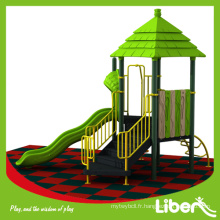 Liben Play Attractive terrain de jeu extérieur fait maison avec revêtement de sol en caoutchouc