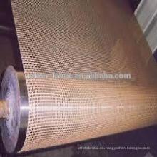 Cinturón de secador de malla de teflón de PTFE con resistencia UV personalizada de una pieza
