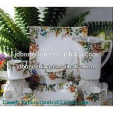 square shape fine bone china ceramics tableware