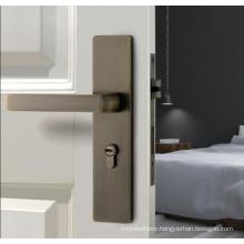 American style bedroom door handle lock modern simple solid wood door lock with silent indoor door lock